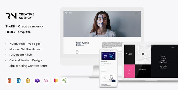 TheRN - Creative Agency HTML5 Template - Creative Site Templates