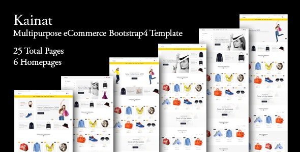 Kainat - Multipurpose eCommerce Bootstrap 4 Template - Fashion Retail