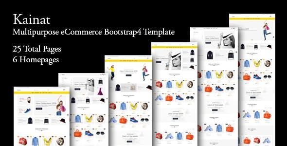 Kainat - Multipurpose eCommerce Bootstrap 4 Template