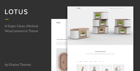 Lotus - Modern Minimal WordPress WooCommerce Theme - WooCommerce eCommerce