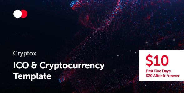 Cryptox — ICO & Cryptocurrency Template - Technology Site Templates