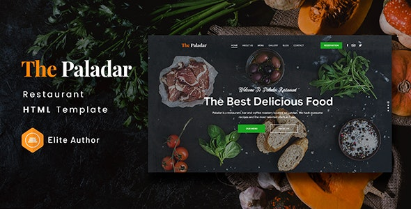 Paladar - Restaurant HTML Template - Food Retail