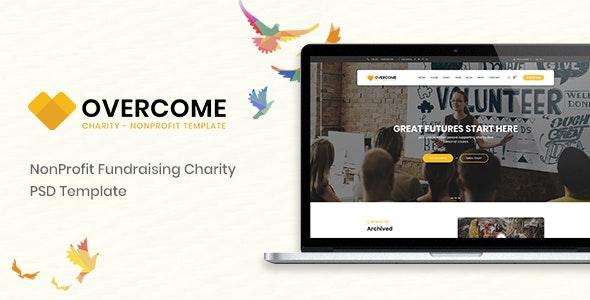 Overcome – Charity Multipurpose Non-profit PSD Template - Charity Nonprofit
