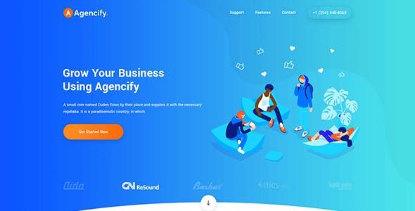 Agmycoo - Isometric Startup Creative Digital Agency WordPress Theme