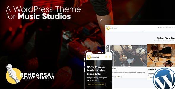 Rehearsal - Music Studio WordPress Theme