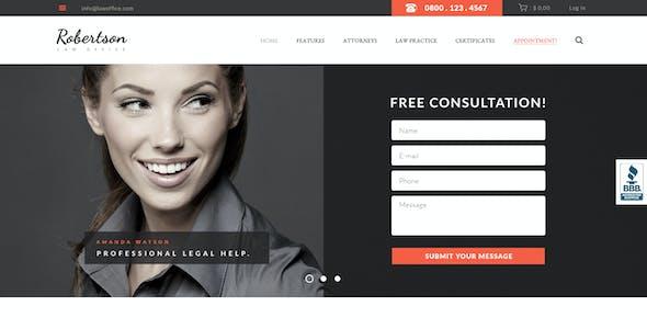 Law Office | Attorney & Legal Adviser WordPress Theme + RTL