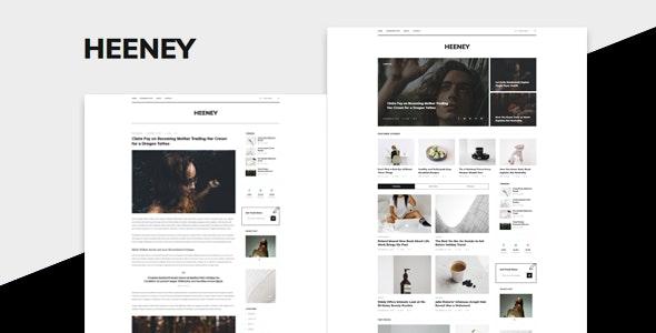 Heeney - Modern Blog HTML5 Template - Creative Site Templates