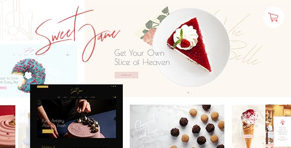 Sweet Jane - Delightful Cake Shop Theme