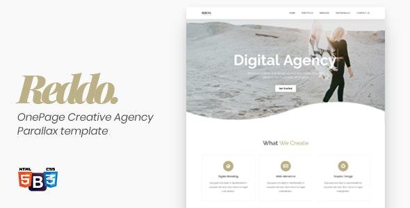 Reddo - OnePage Creative Agency Parallax template - Creative Site Templates