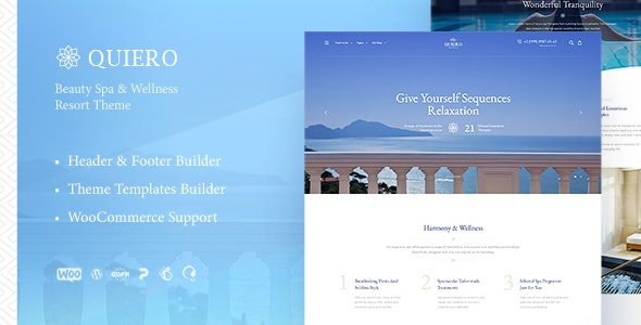 Quiero - Beauty Spa & Wellness Resort Theme - Health & Beauty Retail