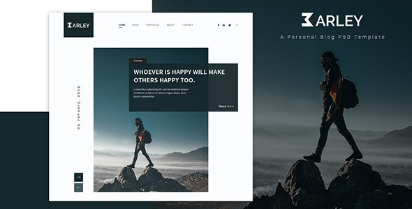 Barley - Ultimate Personal Blog PSD Template - Personal Photoshop