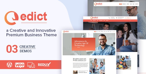 EDICT - Eight Degree Innovative Corporate Theme - Corporate WordPress