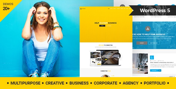Connection - Multipurpose / Creative / Business / Corporate / Agency / Portfolio WordPress Theme - Creative WordPress