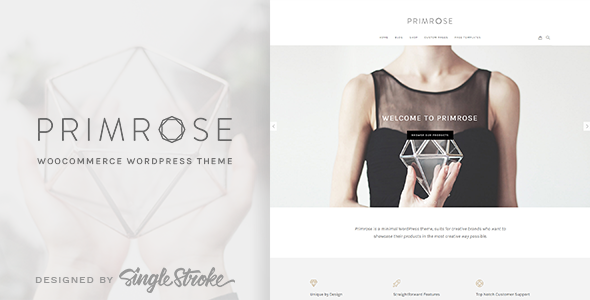 Primrose - A Minimal WooCommerce WordPress Theme for Creative eCommerce Websites - WooCommerce eCommerce
