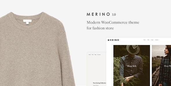 Merino | Modern WooCommerce shop theme for fashion store - WooCommerce eCommerce