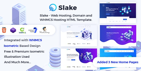 Slake - Web Hosting, Domain and WHMCS Hosting HTML Template - Hosting Technology
