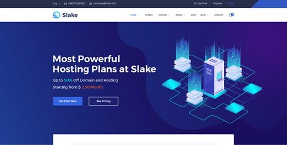 Slake - Web Hosting, Domain and WHMCS Hosting HTML Template