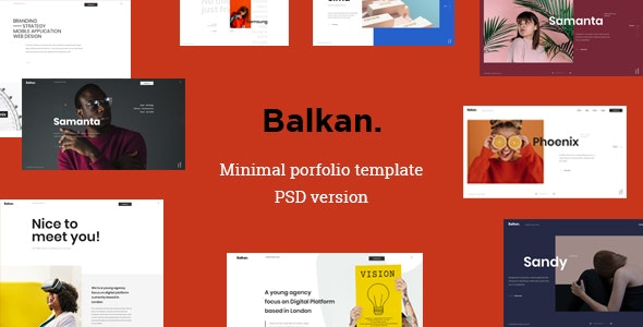 Balkan - Minimal portfolio PSD template - Portfolio Creative