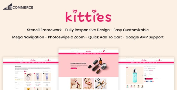 Kitties - Beauty Responsive BigCommerce Theme - BigCommerce eCommerce