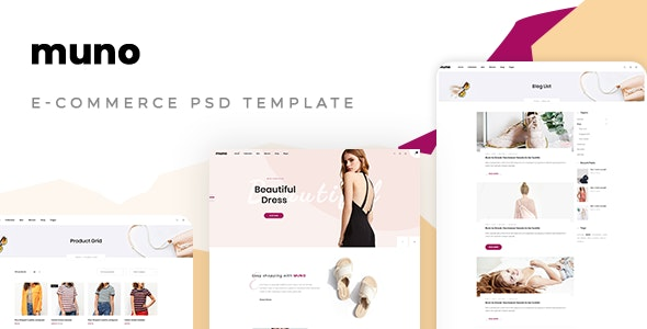 Muno – E-commerce PSD Template - Fashion Retail