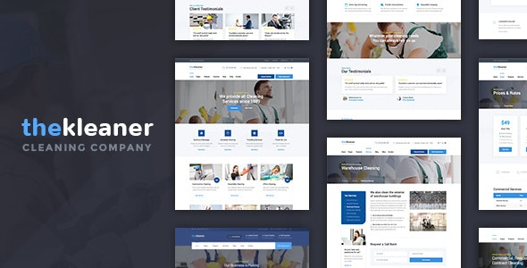 The Kleaner - Industrial Cleaning Company WordPress Theme - Business Corporate