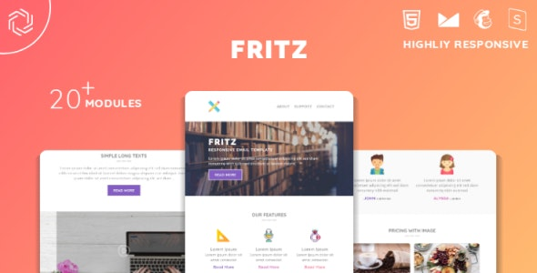 Fritz Responsive Multipurpose Email Template - Newsletters Email Templates