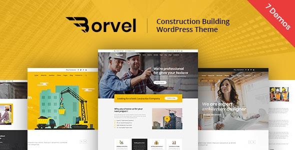 Borvel - Construction Building Company WordPress Theme - Business Corporate