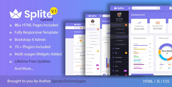 Splite – Responsive Bootstrap4 Admin Dashboard Template by