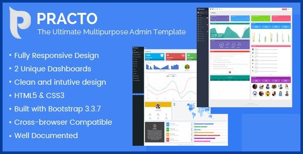 Practo - The Ultimate Multipurpose Admin Template - Admin Templates Site Templates