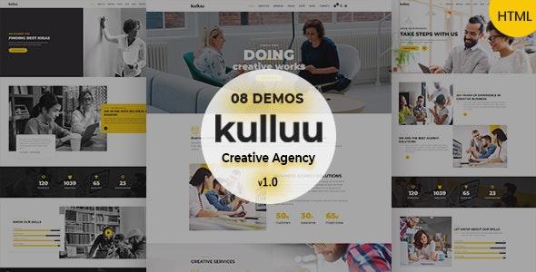 Kulluu - Creative Agency Responsive HTML Template - Creative Site Templates