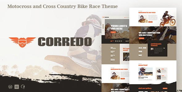 Corredo | Bike Race & Sports Events WordPress Theme - Events Entertainment