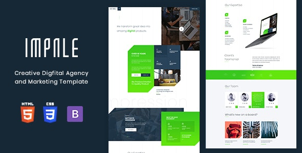 Impale - Digital Agency & Marketing Template - Site Templates