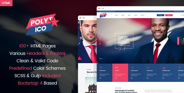 Polytico - Multipurpose Political And NGO HTML Template - Nonprofit Site Templates