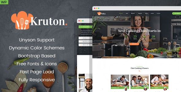 Kruton – Bakery and Cooking Classes WordPress Theme by WPRollers