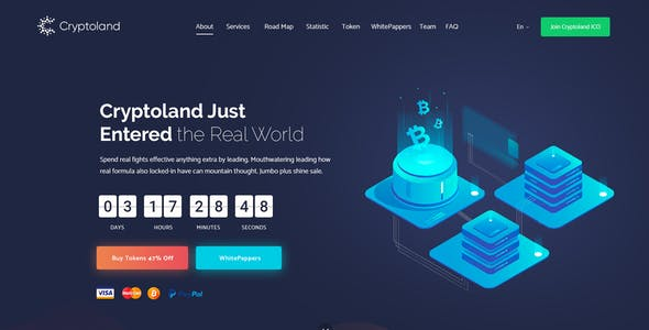Cryptoland - ICO Landing Pages & Cryptocurrency HTML Pack