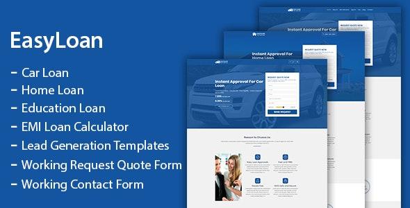 EasyLoan - Loan Company Website Templates - Marketing Corporate