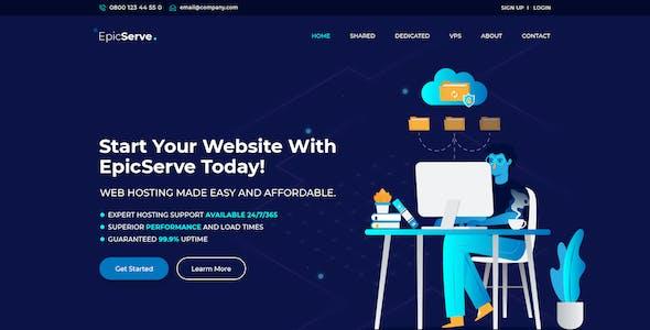 EpicServ - Web Hosting PSD Template
