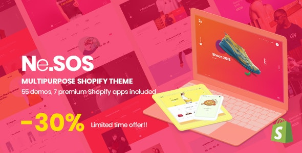 Nesos - Multipurpose Shopify Sections Theme - Shopify eCommerce