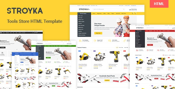 Stroyka - Tools Store HTML Template - Shopping Retail