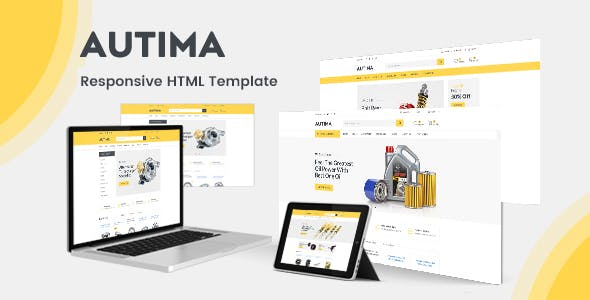 Autima Car Accessories Bootstrap Html Template