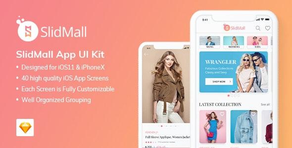 SlidMall E-Commerce Mobile App - UI Kit - Sketch UI Templates