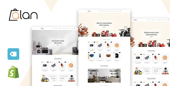 Alan - Kitchen Accessories Shopify Theme - Shopping Shopify