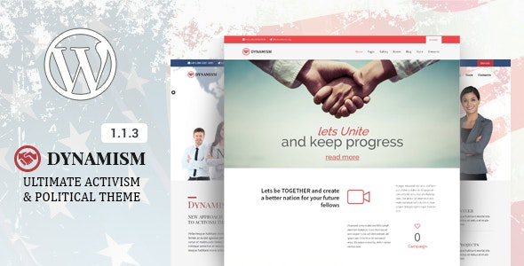Dynamism - Political & Activism WP Theme - Activism Nonprofit
