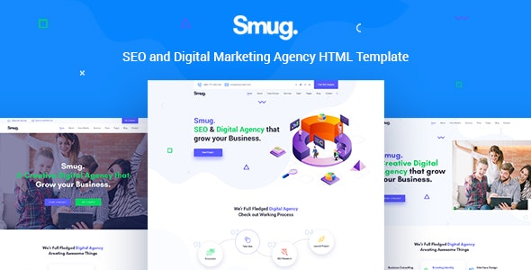 Smug - SEO and Digital Marketing Agency Template - Business Corporate