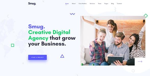 Smug - SEO and Digital Marketing Agency Template