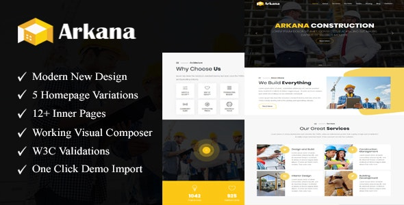 Arkana - One Page Construction WordPress Theme - Corporate WordPress