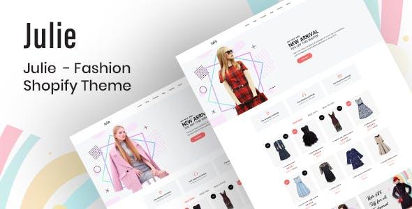 Julie - Minimal Fashion Shopify Theme