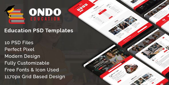 Ondo - Educational PSD Template - Miscellaneous Photoshop