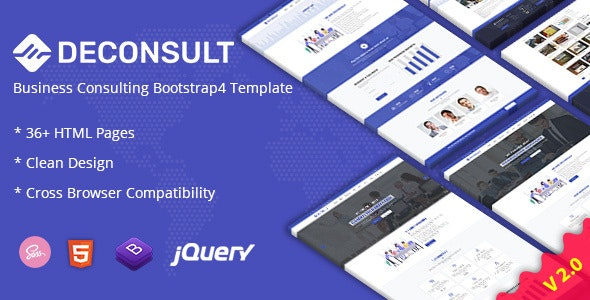 Deconsult - Business Consulting Bootstrap4 Template + RTL - Business Corporate