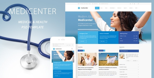 MediCenter - Health Medical Clinic PSD Template - Health & Beauty Retail